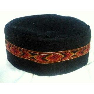Himachali Cap(Pahari Topi) - Black