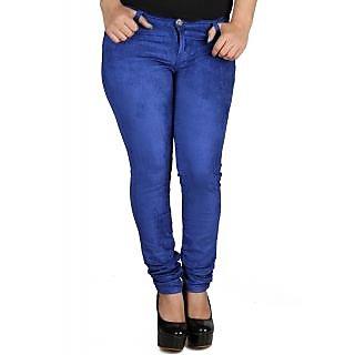 Fashion Cult Stylish Blue Corduroy Trouser - Blue