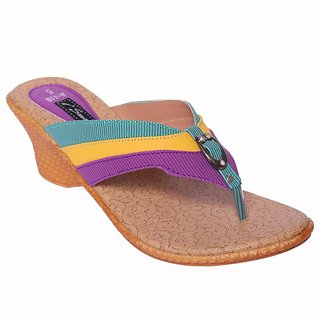 Smalto Triple Color Burmish Casual Wear Sandal For Women