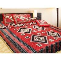 K Dcor 100 percent Cotton Classy Rajsthani Print Double Bed Sheet