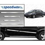 Speedwav Full Chrome Side Beading For Toyota Etios - Silver