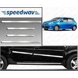 Speedwav Full Chrome Side Beading For Toyota Etios Liva - Silver