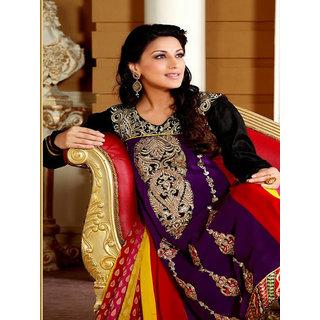Sonali Bendre Georgette Designer Anarkali Suits With Full Sleeves