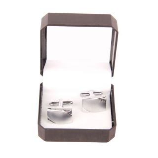 Jstarmart Silver Square Cufflink For Men JSMFHMA0093
