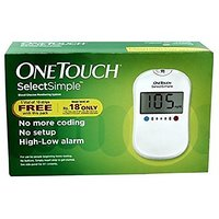 Johnson  Johnson One Touch Select Glucose Monitor with 10 Strips