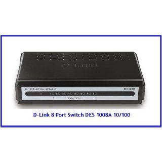 Dlink 8 Port Switch 10/100 MBPS DES-1008A