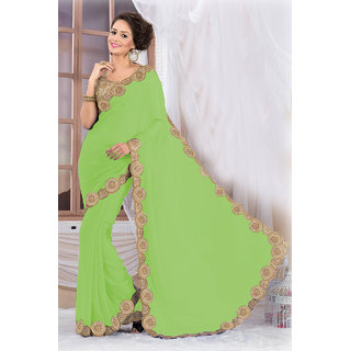 Stylish Green Georgette Saree EBSFS16504