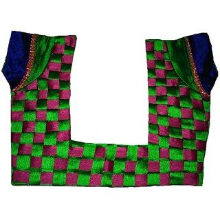geet fashion back checks design blouse for sarees