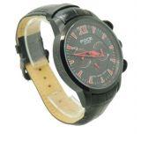 Foce F914gbl Black Designer Chronograph Mens Gents Wrist Watch Td 1120