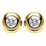 Ag Real Diamond Solitaire Diamond Fancy Earring Agse0064