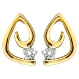 Ag Real Diamond Solitaire Style Fancy Earring Agse0160