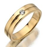 Ag Real Diamond Solitaire Diamond Gents Fancy Ring Agsr0049