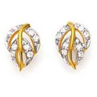 Ag Real Diamond Traditional Leave Shape Earring # Agse0168