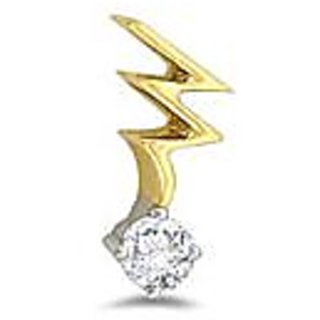 Ag Real Diamond Solitaire Fancy Pendant # Agsp0016