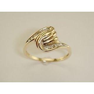 Ag Real Diamond Ten Stones Band Fancy Swirl Shape  Ring # Agsr0114