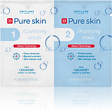 Pure Skin 1 Clarifying Scrub 2 Purifying Mask (set Of 2)