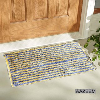 Aazeem Yellow And Grey   Door Mat