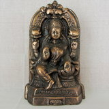SHREE LAXMIJI ANTIQUE LOOK HANDICRAFT COPPER FINISH PLATED METAL STATUE,GOD IDOL