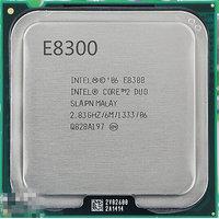 Intel Core2 Duo Processor E8300  (6M Cache, 2.83 GHz, 1333 MHz FSB)
