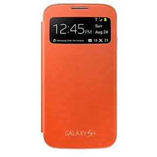 KMS S-View Flip Cover for Samsung Galaxy S4 (Orange)