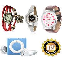 Urban Kids Combo (3 Watches + Mp3 Player + Earphones)