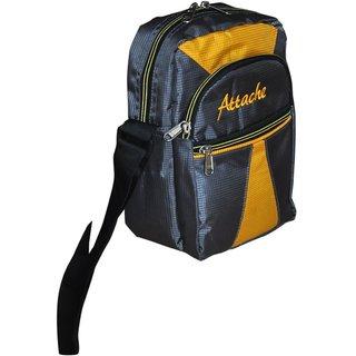 Attache Yellow & Grey Messenger /Travel Sling Bag