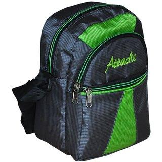 Attache Green & Grey Messenger /Travel Sling Bag
