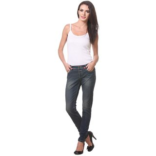 KOTTY elasticated Slim fit denim jeans with ankle zip.