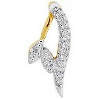 Ag Real Diamond Fancy A Shape Diamond Pendant # Agsp0156