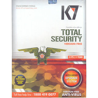 K7 Total Security Antivirus 3 PC For 1 Year