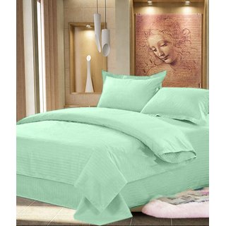 Little Joy Beautifull Plain Double Bedsheet With 2 Pillow Cover