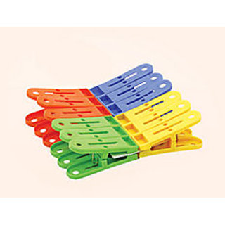 Plastic Cloth Clips (Pack of 12)