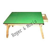 Roger & Moris Fixed Natural Multi-function/Laptop Table With Drawer