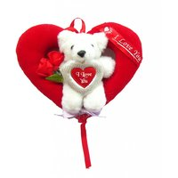 Tickles TeddyBear Bouquet Heart Birthday Girl Friend Boy Valentine Love Gift