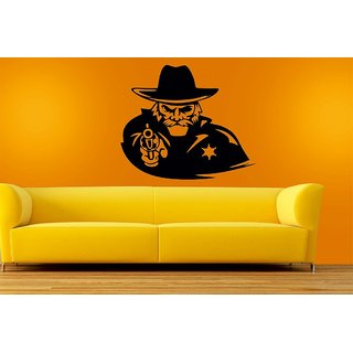 Mesleep Shooter Design Black Wall Sticker