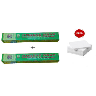 2 Aluminium Food Wrapping Foil Paper with Free tissues paper