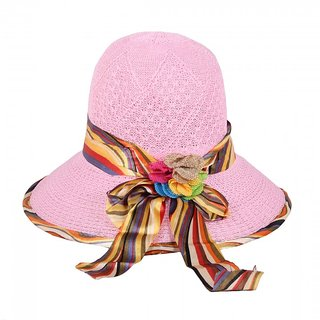 Pink Holiday Sun Hat For Women  JSMFHCP1283