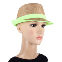 Brown Women's Fidora Hat JSMFHCP1292