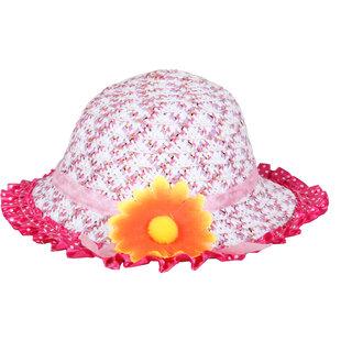 Stylish Pink White  Unisex Kids Hat JSMFHKDCP0072