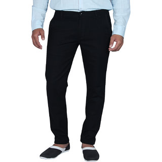 Mens Business Casual Thin Black Linen casual Trousers