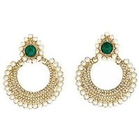 Kriaa Pearl Gold Plated Chandbali Earrings