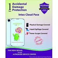 InfyShield Accidental Physical & Liquid Damage 1 Year  for Intex Cloud Pace