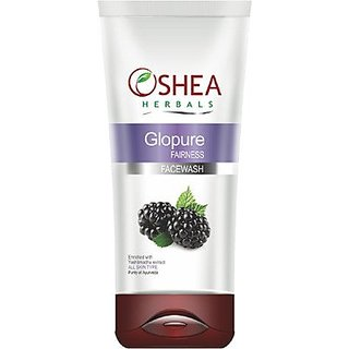 Oshea Herbals Oshea Herbals  Glopure  Fairness Face Wash 120 Gm All Skin Type available at ShopClues for Rs.140