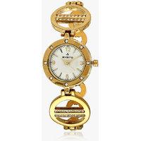 Aveiro Golden White Dial Analog womwn's  Watch