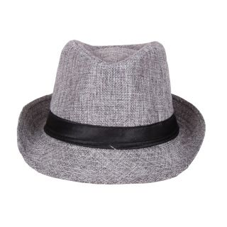 Grey Dancing Fidora Hat For  Unisex Kids JSMFHKDCP0088