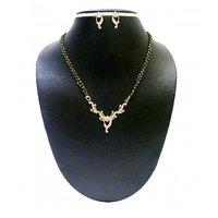 Zaveri Pearls Brass Mangalsutra For Women Silver-ZPFK486