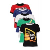 Goodway Junior Boys Colour 5 pcs Smart Pack - Atitude 2 Themed Prints - 3-4Yrs