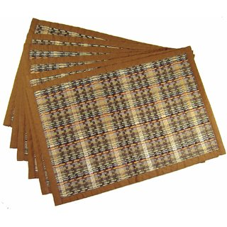 Saffron Craft Bamboo Stick Weaved Placemats