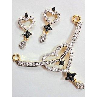 Maayra Valentine American Diamond Mangalsutra Pendant Set