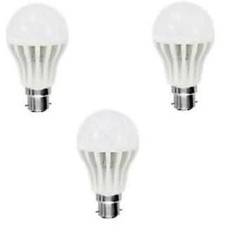 Jugnoo 3W B22 450L LED Bulb (White, Pack Of 3)